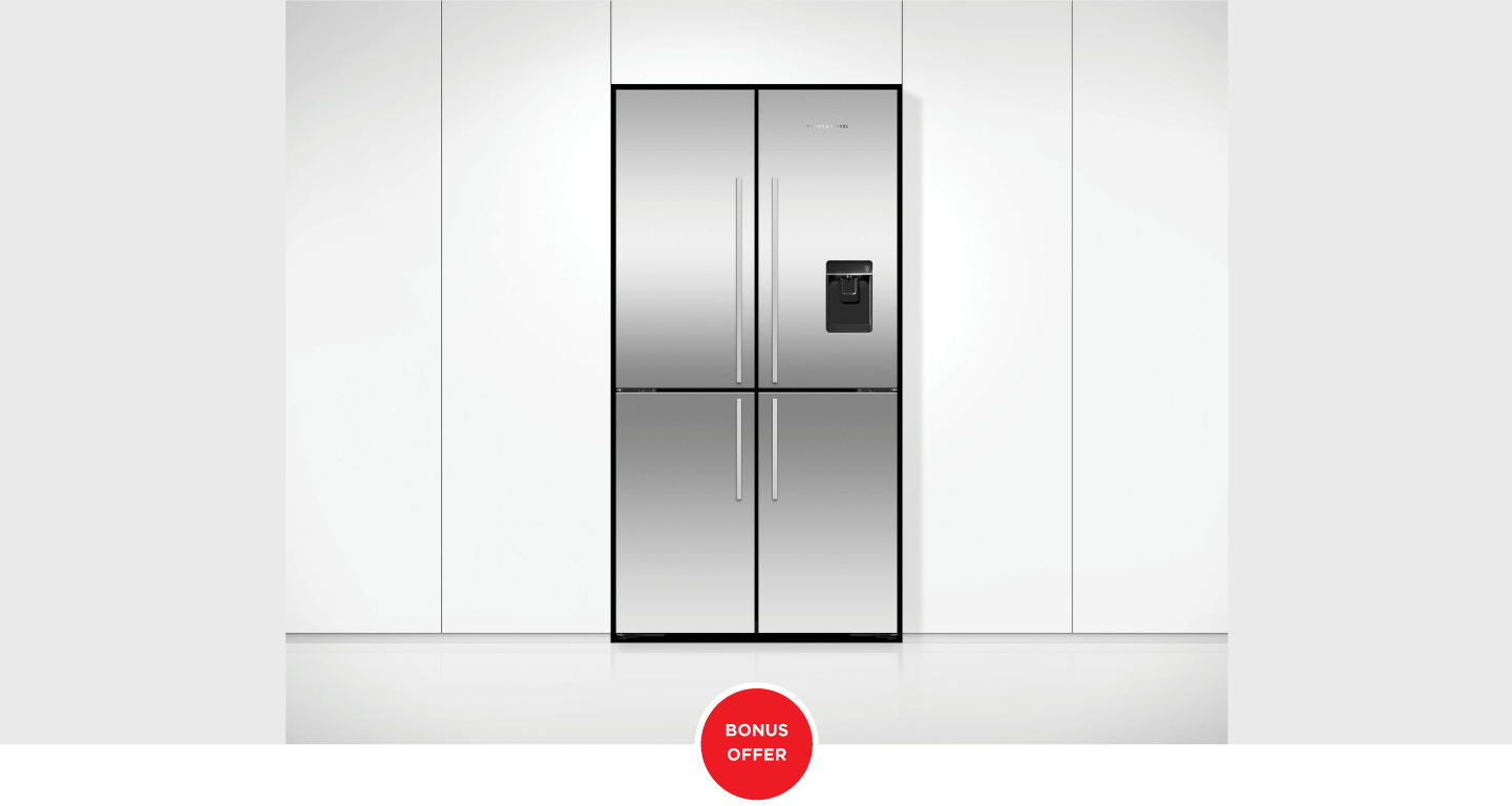 $300 Instant Rebate on Eligible Fisher & Paykel 4 Door Refrigerators